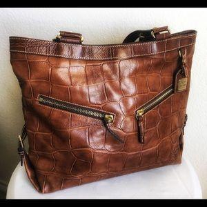 Dooney & Bourke Croc Saffiano Leather Tote Large